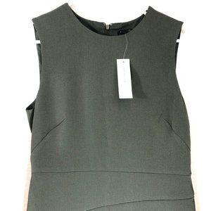 Ann Taylor Olive Asymmetrical Sleeveless Dress